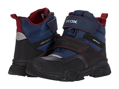 Geox Kids Nevegal B ABX 2 (Little Kid/Big Kid) (Navy/Dark Red) Boy