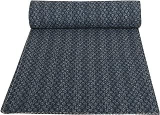 Janki Creation Exclusive Block Print Kantha Quilt, Handmade Kantha Stitched Quilt, Comforter, Ac Quilt, Bohemian Bedspread, Bohemian Bedding