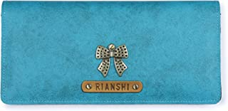 The Junket Personalized (Name/Charm) PU Leather Wallet for Women and Girls