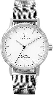 Triwa Women's Quartz Elva Watch analog Display and Stainless Steel Strap, ELST101-EM021212