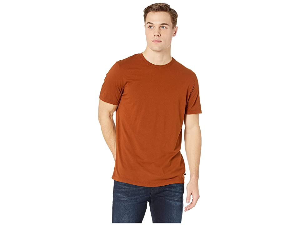 Image of AG Adriano Goldschmied Bryce Crew Short Sleeve Tee (Cognac) Men's T Shirt