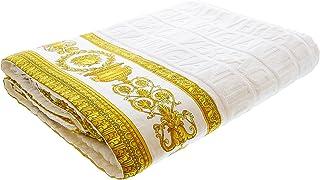 Gianni Versace Large Towel Throw Unisex Beach 150x200 Asciugamano Copriletto Nero