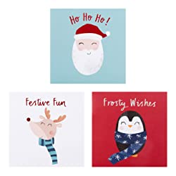 Hallmark Festive Character Christmas Cards - Pack of 18 In 3 Designs
