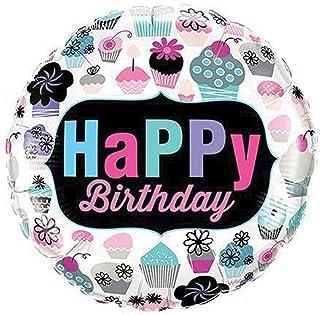 Qualatex Birthday Cupcakes Emblem Foil Balloon, 18-inch Size