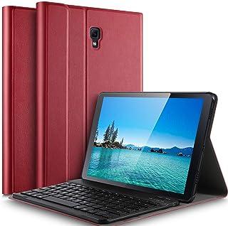 Luibor Samsung Galaxy Tab A 10.5 Funda de Teclado Funda de Soporte Frontal Teclado Desmontable Tableta Samsung Galaxy Tab A 10.5 2018 SM-T590 (Wi-Fi) SM-T595 (LTE) (Rojo)