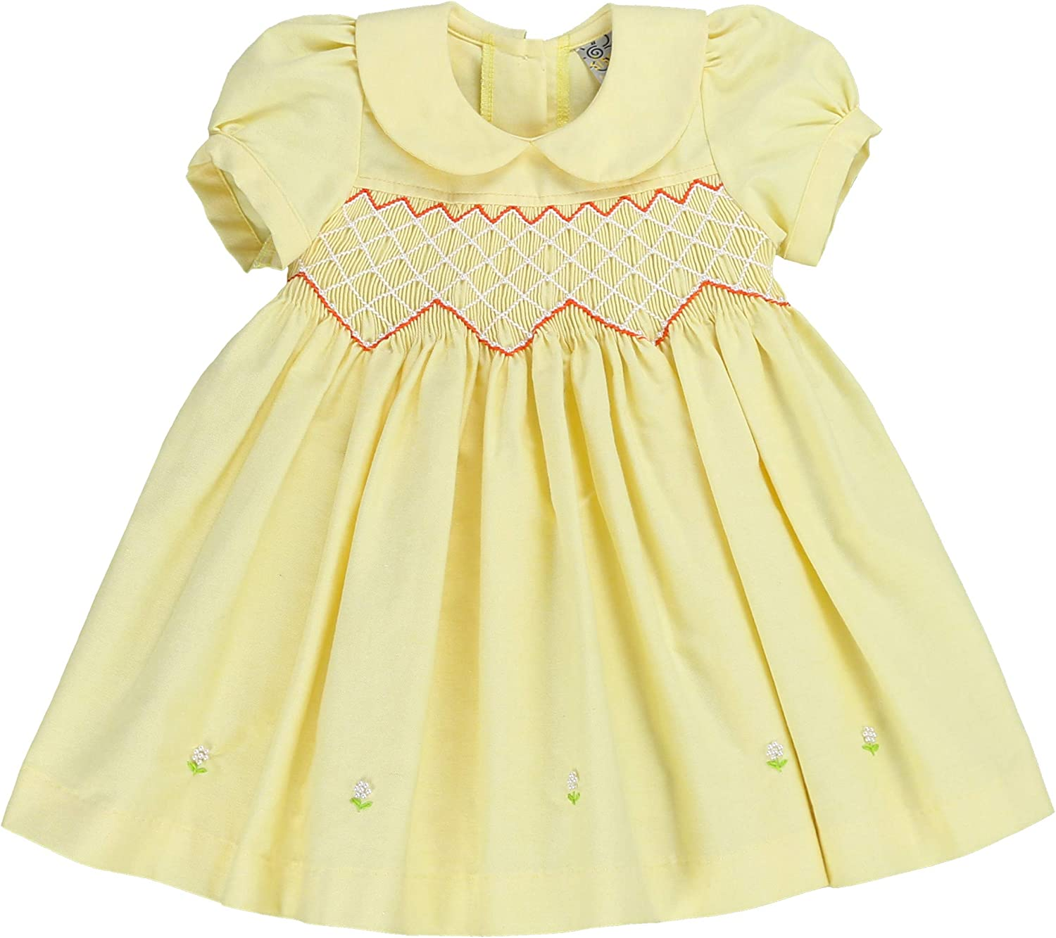 sissymini - Petite Adele Knit Chambray Hand Smocked  Embroidere