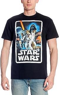 Star Wars Elbenwald - Camiseta de manga corta para hombre, diseño retro, color negro