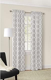 Mainstays Calix Fashion Window Curtain, 56 x 63, Gray, Set of 2