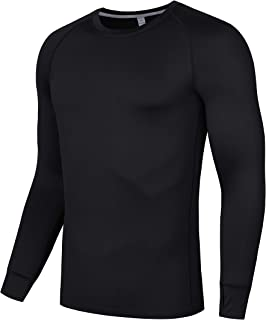 Adult Workout Compression Perspiration Set, Elastic Breathable Long Sleeve Compression Top and Pants