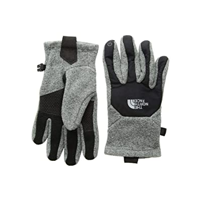 The North Face Kids Denali Etiptm Gloves (Big Kids) (TNF Medium Grey Heather/TNF Black) Extreme Cold Weather Gloves