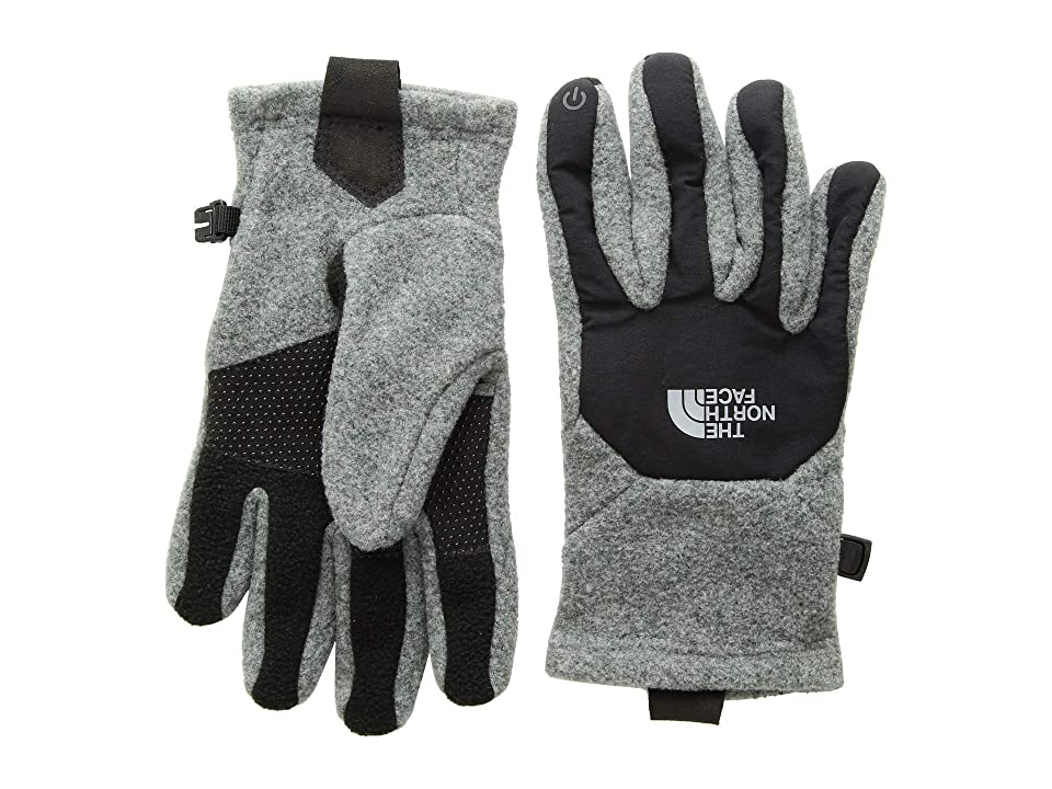 The North Face Kids Denali Etiptm Gloves (Big Kids) (TNF Medium Grey Heather/TNF Black) Extreme Cold Weather Gloves