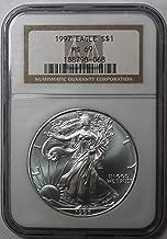 1997 silver eagle ms69