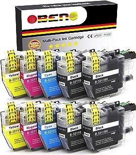 OBENO – 2 Satzs 2 BK– LC3211 LC3213 10 Packs Tintenpatronen für Brother LC3211 MFC J890DW, MFC J895DW, DCP J772DW, DCP J774DW, DCP J572DW (4 Schwarz, 2 Cyan, 2 Magenta, 2 Gelb)