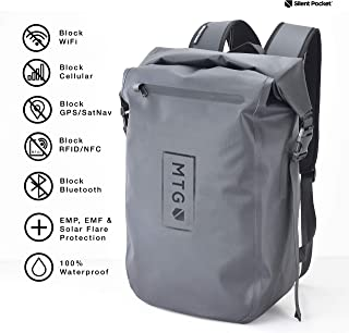 Silent Pocket Faraday Waterproof Backpack - Signal Jamming Faraday Bag Protects Against Identity Theft with Signal Blocking, Protect your Data and Devices during Work, School, Travel, Hiking, Outdoors