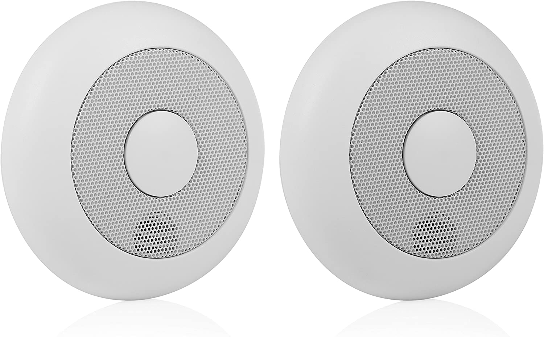Smartwares 10.040.95 RM175RF/2 - Pack de 2 Detectores de humo, 85 dB, Baterías incluidas, Inalámbrico, Interconectable, batería de 1 año