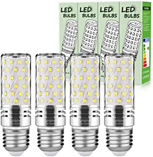 Gezee LED Plata Maíz Bombillas 15W E27 6000K Blanco Frío LED Candelabros bombillas, 120 W Bombilla Incandescente Equivalente, 1500Lm, LED vela Bombillas No regulables(4 Packs)