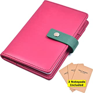 Pocket Notebook Cover with 3 Notepads (3.5