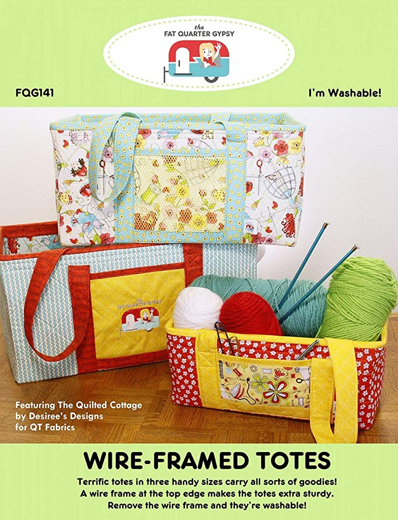 Fat Quarter Gypsy FQG141 Wire-Framed Totes Pattern