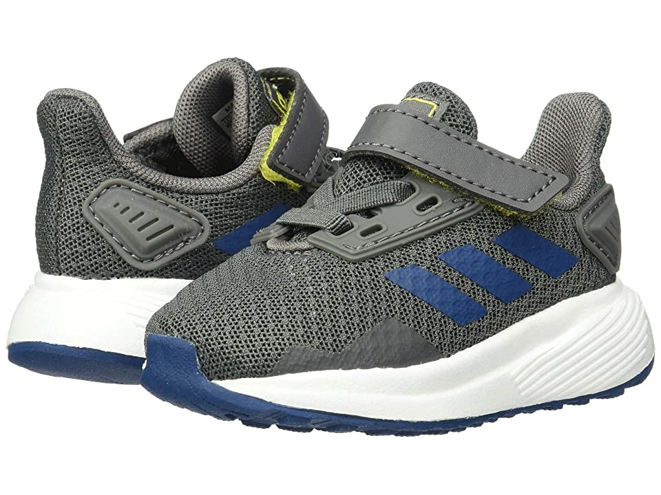 adidas Kids Duramo 9 (Toddler) (Grey/Marine/Yellow) Boy