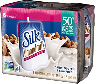 silk almond milk vanilla 8 oz