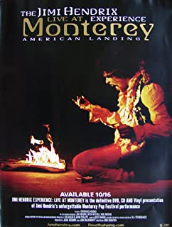 Jimi Hendrix Experience - Live At Monterey - Poster - Rare - New - Mitch Mitchell - Noel Redding - Johnny Allen Hendrix - Purple Haze - The Wind Cries Mary - Hey Joe - Wild Thing - Like A Rolling Stone - Foxey Lady