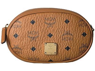 MCM Essential Visetos Original Belt Bag Small (Cognac) Handbags
