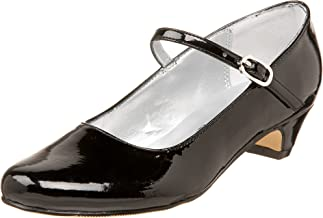 Nina Seeley Heel Buckle Mary Jane (Little Kid/Big Kid), Black Patent, 2 W US Little Kid