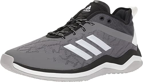 Adidas Hommes's Speed Trainer 4 Baseball chaussures, gris Crystal blanc noir, 10 M US
