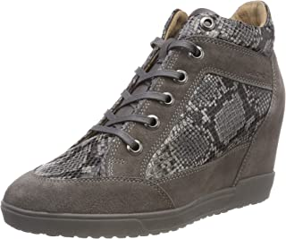 GEOX D Carum C Womens Leather Wedge Sneakers/Boots