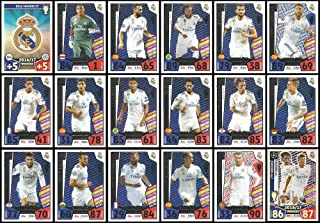 Match Attax Champions League 2017/18 Real Madrid Full 18 Card Winners Set