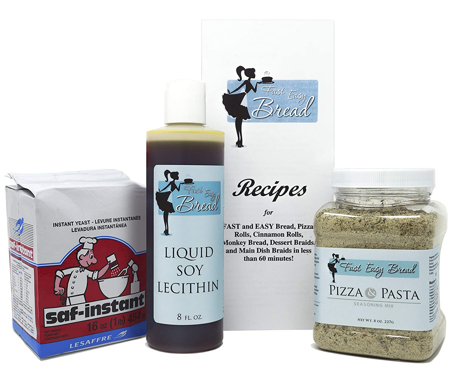 Homemade Pizza Bread Bundle: Saf Instant Soy Yeast Selling Lec Max 77% OFF Liquid