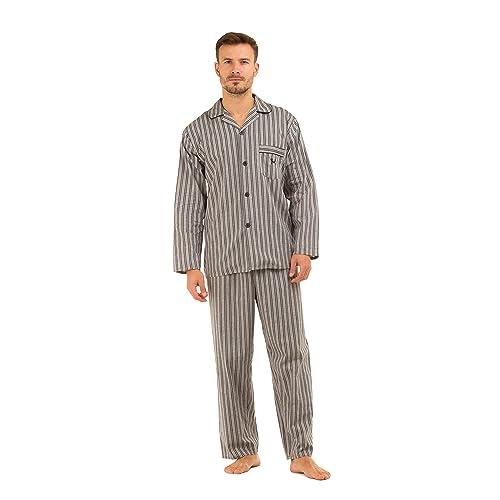4dc8bd6195 Haigman Mens 100% Cotton Long Pyjama Lounge Wear