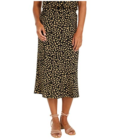 Sanctuary Everyday Midi Skirt (Black Modern Spots) Women