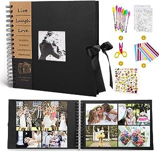 """MMTX Album Photos à Scrap Book Para Cadeau de Noël,100 Pages Bricolage Noires 10""""x10"""" Mémo Collection Fournitures Rangemen..."""