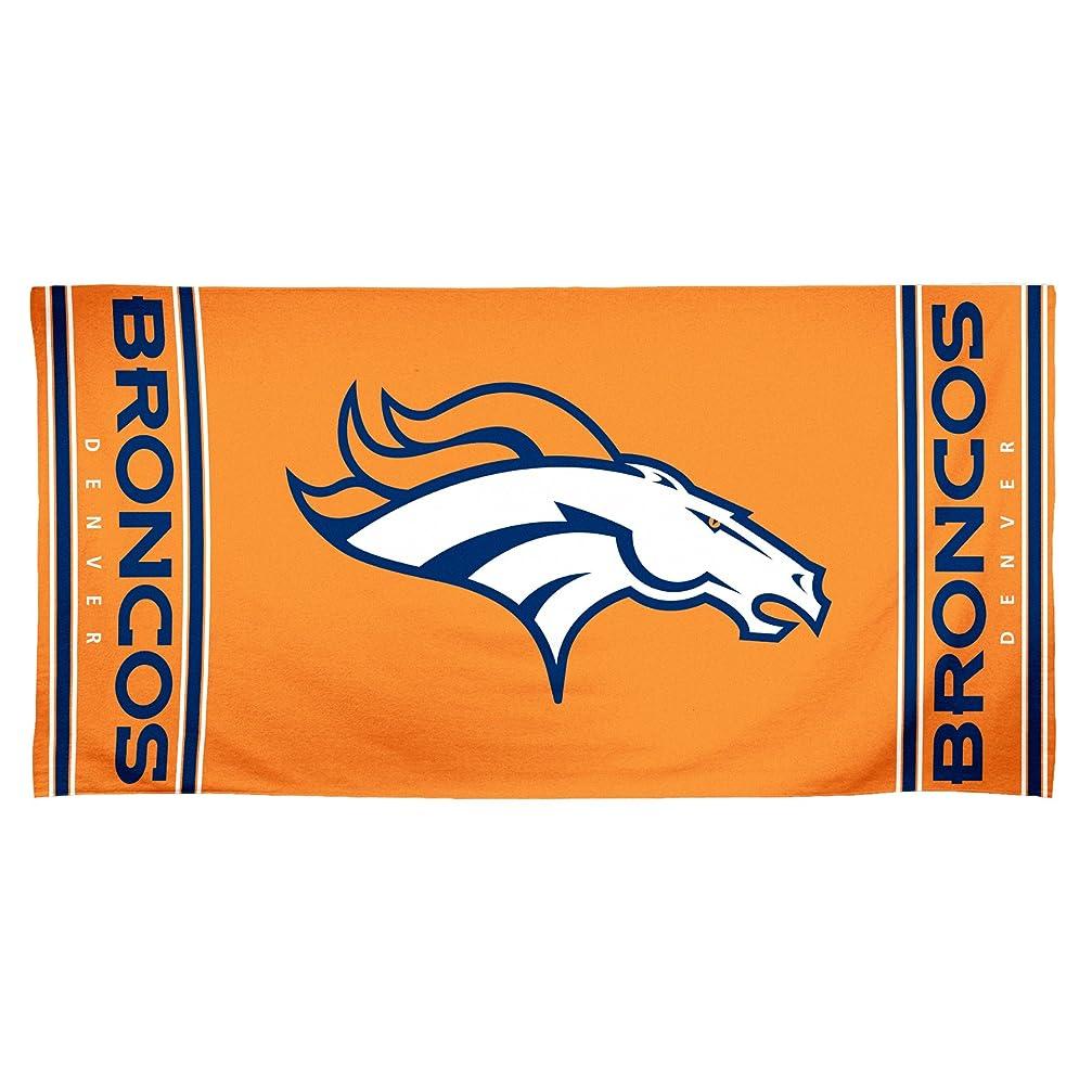課す服を洗う嫉妬NFL Denver Broncos 30?by 60?Fiber Reactiveビーチタオル