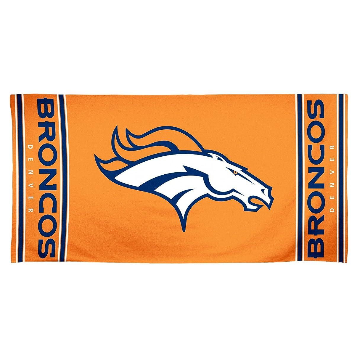 賠償経済サーマルNFL Denver Broncos 30?by 60?Fiber Reactiveビーチタオル