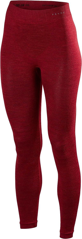 Falke Womens Wool Tech Long Tights  Ruby Red