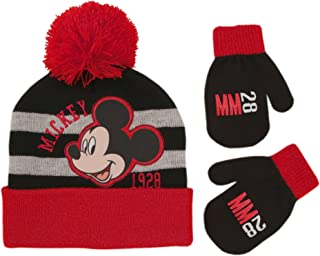 Disney Toddler Boys Mickey Mouse Hat and Mittens Cold Weather Set, Age 2-4