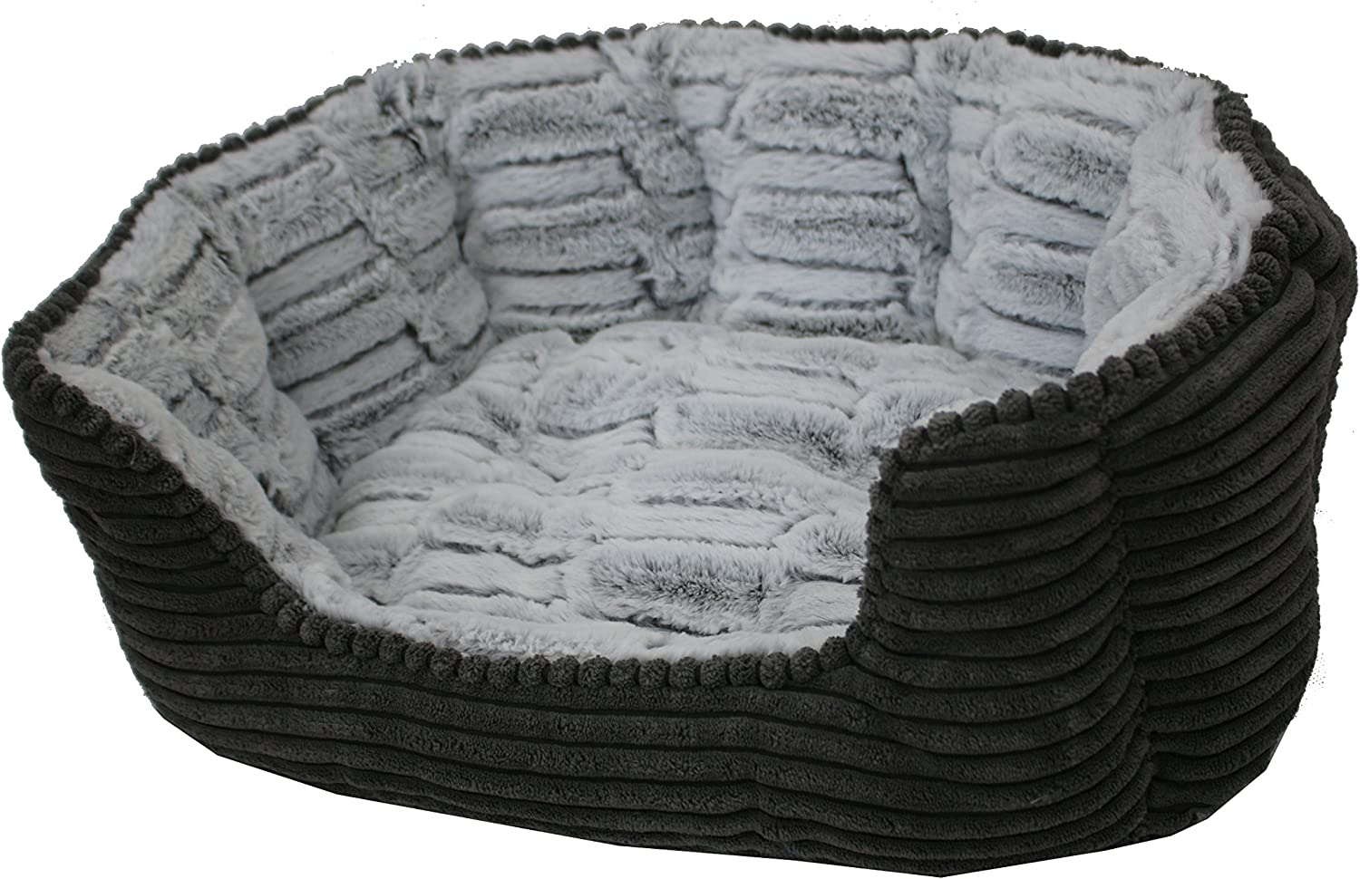 PETSPACES Corduroy Divided Bed 19 X15