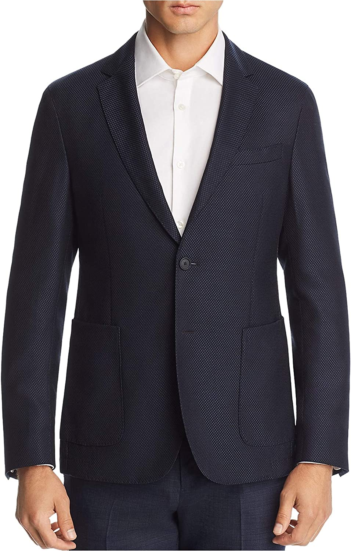 Hugo Boss Mens Travel Two Button Blazer Jacket, Blue, 40 Long