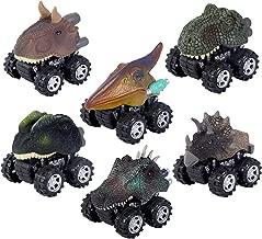 ZHMY Dinosaur Toys, Pull Back Dinosaur Cars, Creative Gifts for 3-12 Year Old Boys Girls, 6-Pack (Dinosaur)