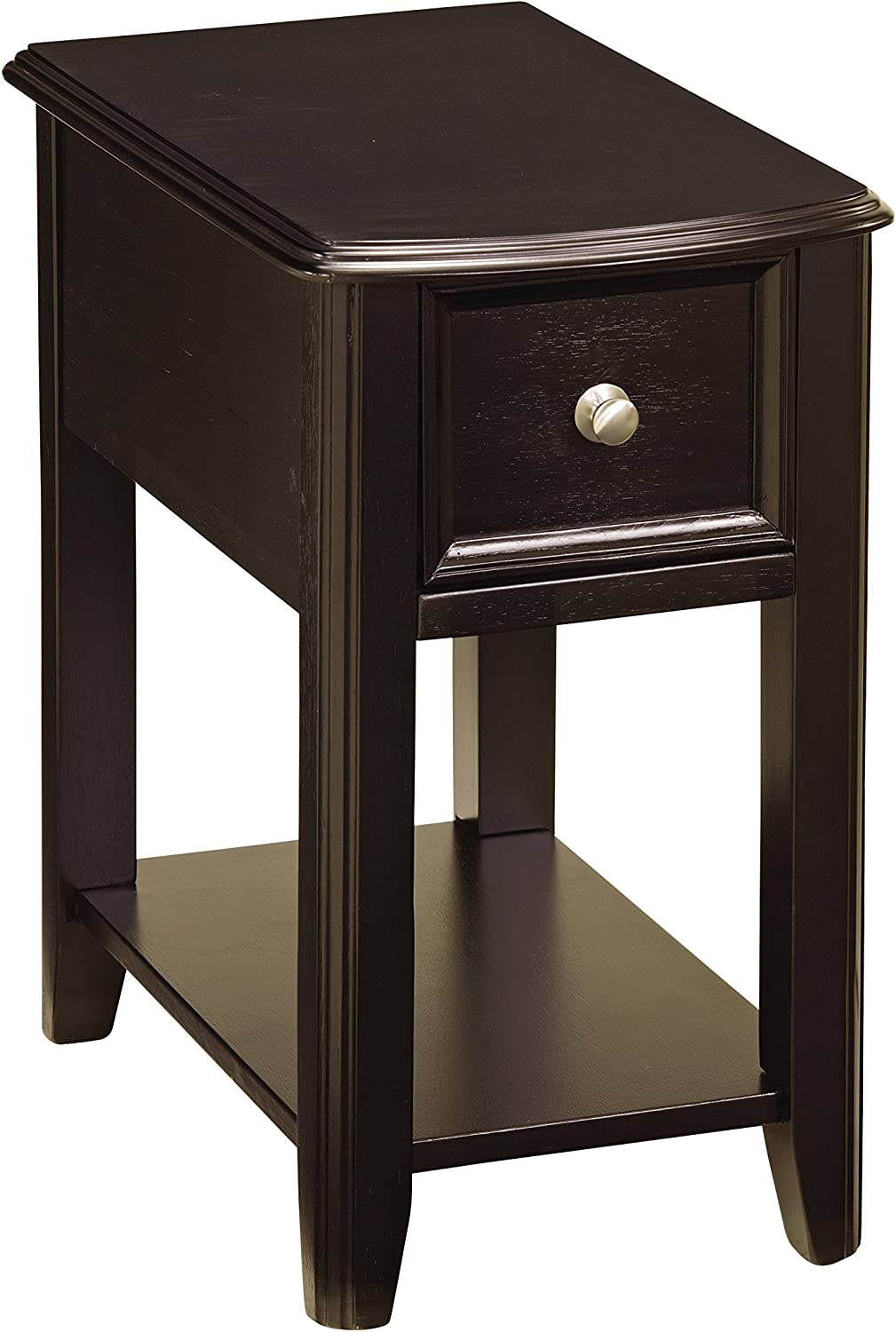 Signature Design by Ashley Contemporary Chair Side End Table Black Finish