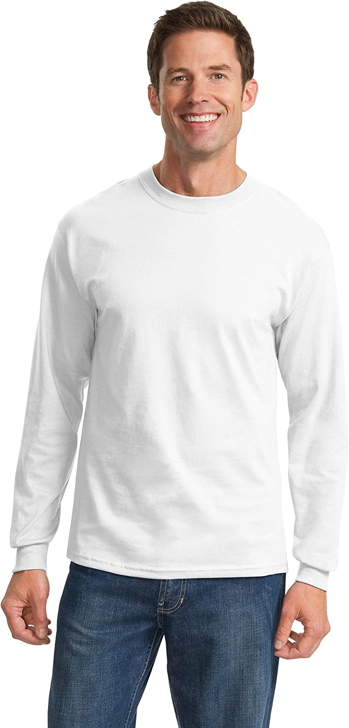 Port & Company - Tall Long Sleeve Essential T-Shirt>2XLT White PC61LST