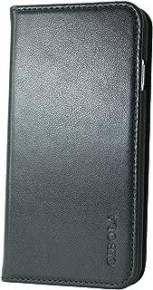 CIBOLA Xperia Z5 Premium Case, Genuine Leather Wallet Case Folio Book Design with Kickstand, Credit Card Slots and Magnetic Closure Protective Cover for Xperia Z5 Premium (Black, Xperia Z5 Premium)