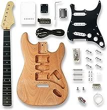 DIY Electric Guitar Kits for ST Electric Guitar, okoume Body, Black Pickguard,