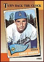 Sandy Koufax LOS ANGELES DODGERS HOF 1990 Topps TBC Turn Back the Clock #665 1965