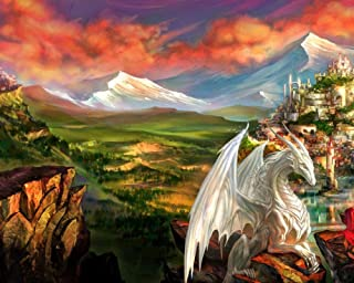 Classic Jigsaw Puzzles 4000 Pieces Adults Puzzles Wooden Puzzles Imagine The Summit White Dragon and Architecture DIY Mode...