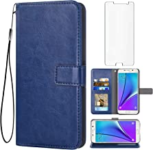 Sponsored Ad - Asuwish Compatible with Samsung Galaxy Note 5 Wallet Case Tempered Glass Screen Protector Flip Cover Card H...