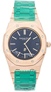 Audemars Piguet Royal Oak Mechanical (Automatic) Blue Dial Mens Watch 15202OR.OO.1240OR.01 (Certified Pre-Owned)