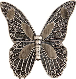 5Pcs Vintage Butterfly Cupboard Door Knobs Cabinet Handles Furniture Chest Drawer Pull Antique Bronze (3.27'' x 3.15'' x 0.79''')